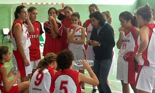 Oihane Ciruelo, entrenadora selección infantil femenina Bizkaia