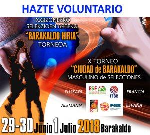 Hazte Voluntario del X Torneo Ciudad de BAarakaldo